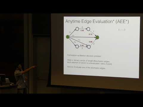 ICAPS 2017: Heuristic Search on Graphs with Existence Priors for Expensive-to-Evaluate Edges