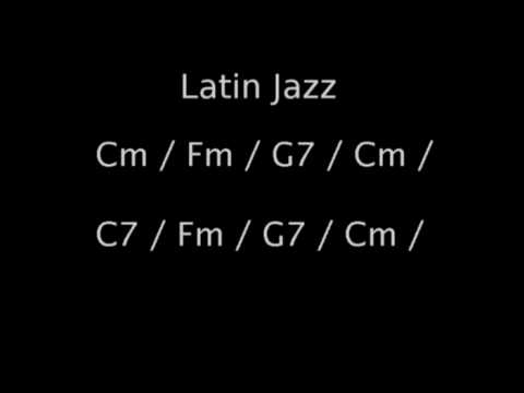 Latin Jazz backing track in Cm