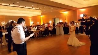 Sarah & Michael Rosenberg's Wedding: The Handsome Groom Serenades The Beautiful Bride