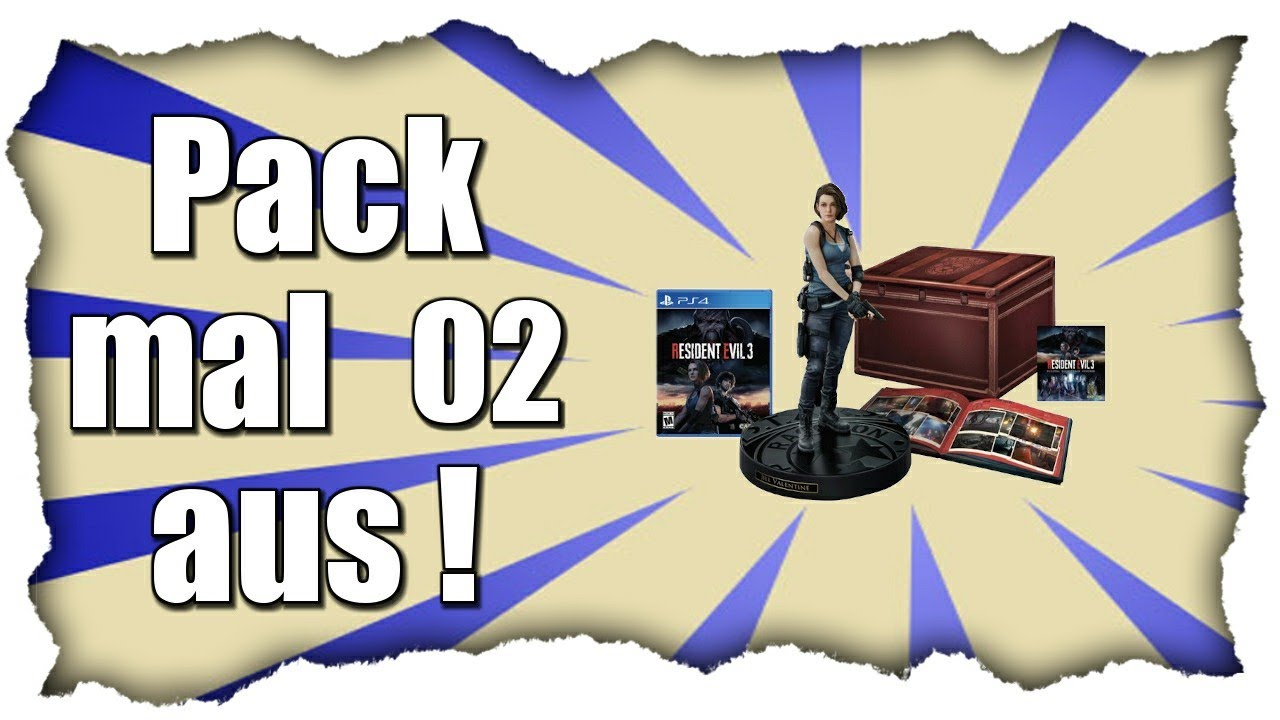 PACK MAL AUS! #02 📦 Resident Evil 3 Collectors Edition | UNBOXING