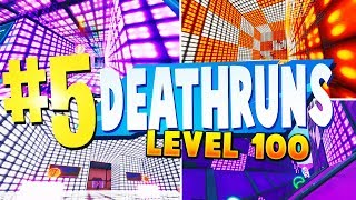 TOP 5 BEST LEVEL 100 DEATHRUN Creative Maps In Fortnite | Fortnite Deathrun Map CODES