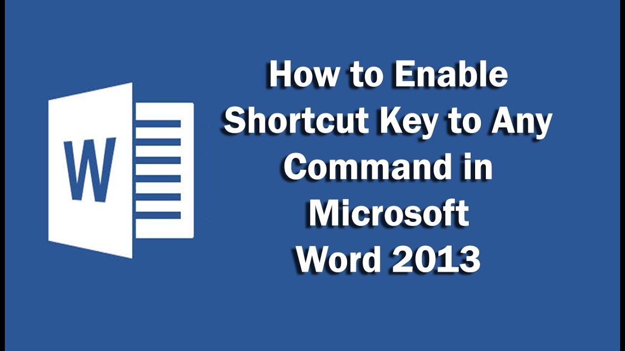 shortcut for enable editing in excel 2013