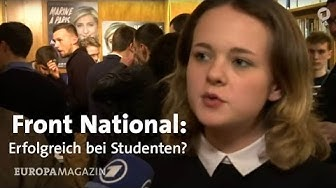Studenten pro Marine Le Pen und Front National