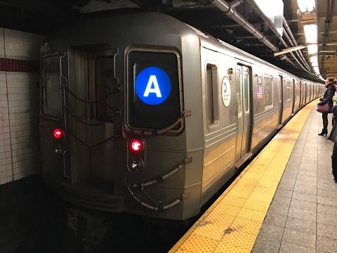 NYC Subway HD 60fps: Riding Kawasaki R68A A Train (Manhattan to Far Rockaway) 2/15/17