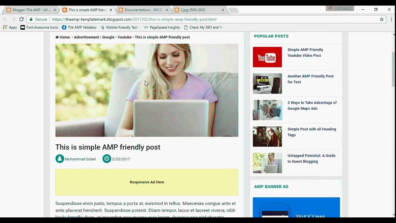 How to make AMP Friendly Blogspot blogger post with The AMP Blogger ...
