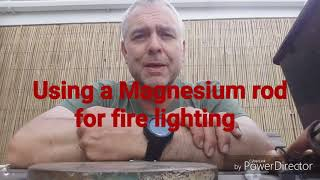 Magnesium rod for fire starting.