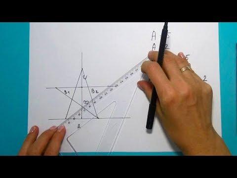 Как начертить пятиконечную звезду без циркуля.