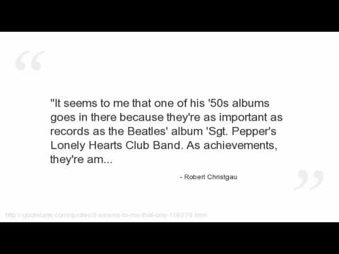 Robert Christgau Quotes