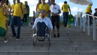Wheelchair Fun @ coppa do mundo 2014, Mineirao, Belo Horizonte