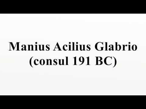Manius Acilius Glabrio (consul 191 BC)