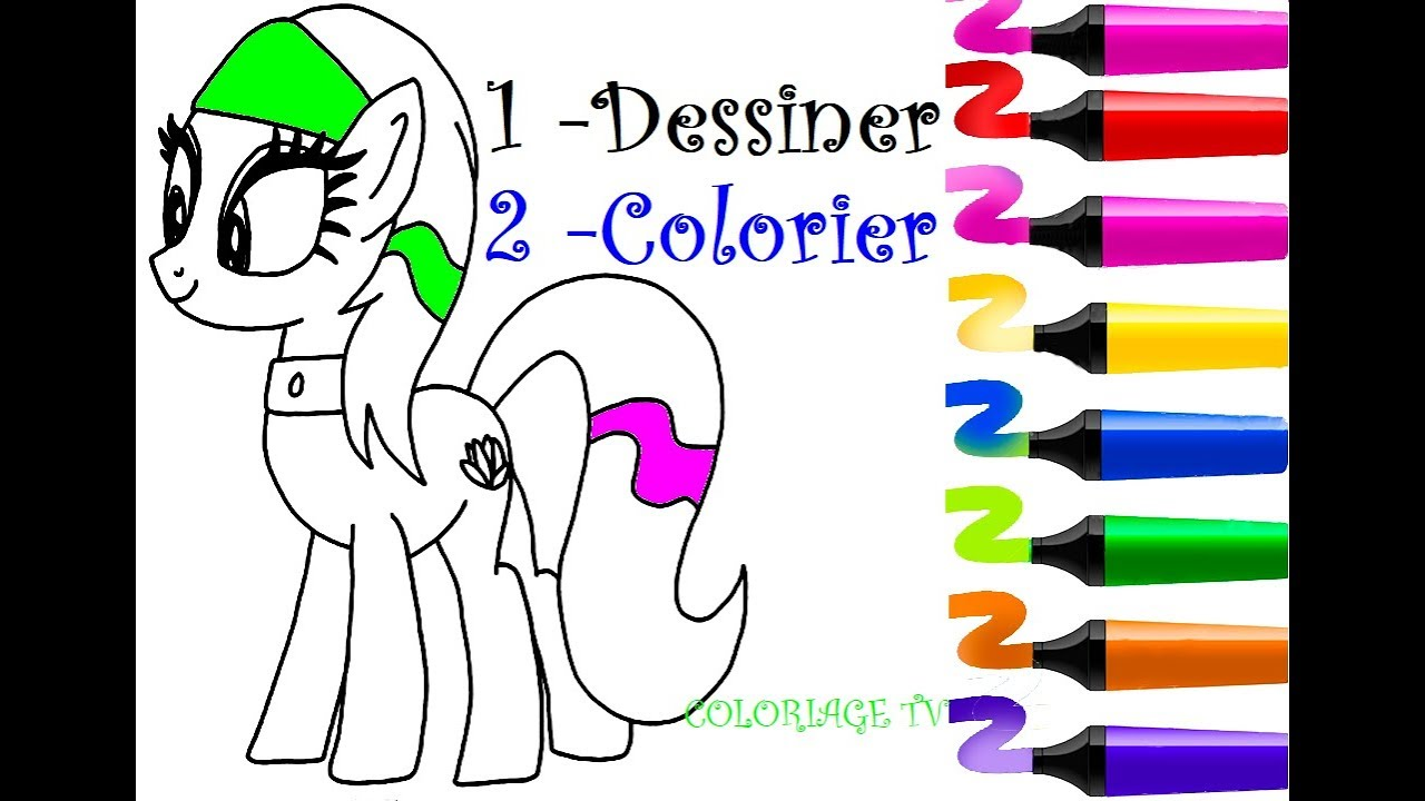 dessin facile mon petit poney comment dessiner coloriage licorne faire coloriage. Black Bedroom Furniture Sets. Home Design Ideas