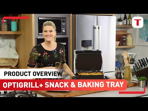 Justine Schofield presents the Snack and Baking Tray for the Tefal OptiGrill+