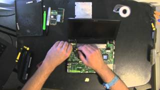 ASUS EEEPC 900 take apart video, disassemble, how to open disassembly
