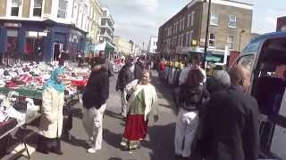 Walking through Queens Crescent Market, Camden, London, on two separate days: 20/03/14 & 10/04//14