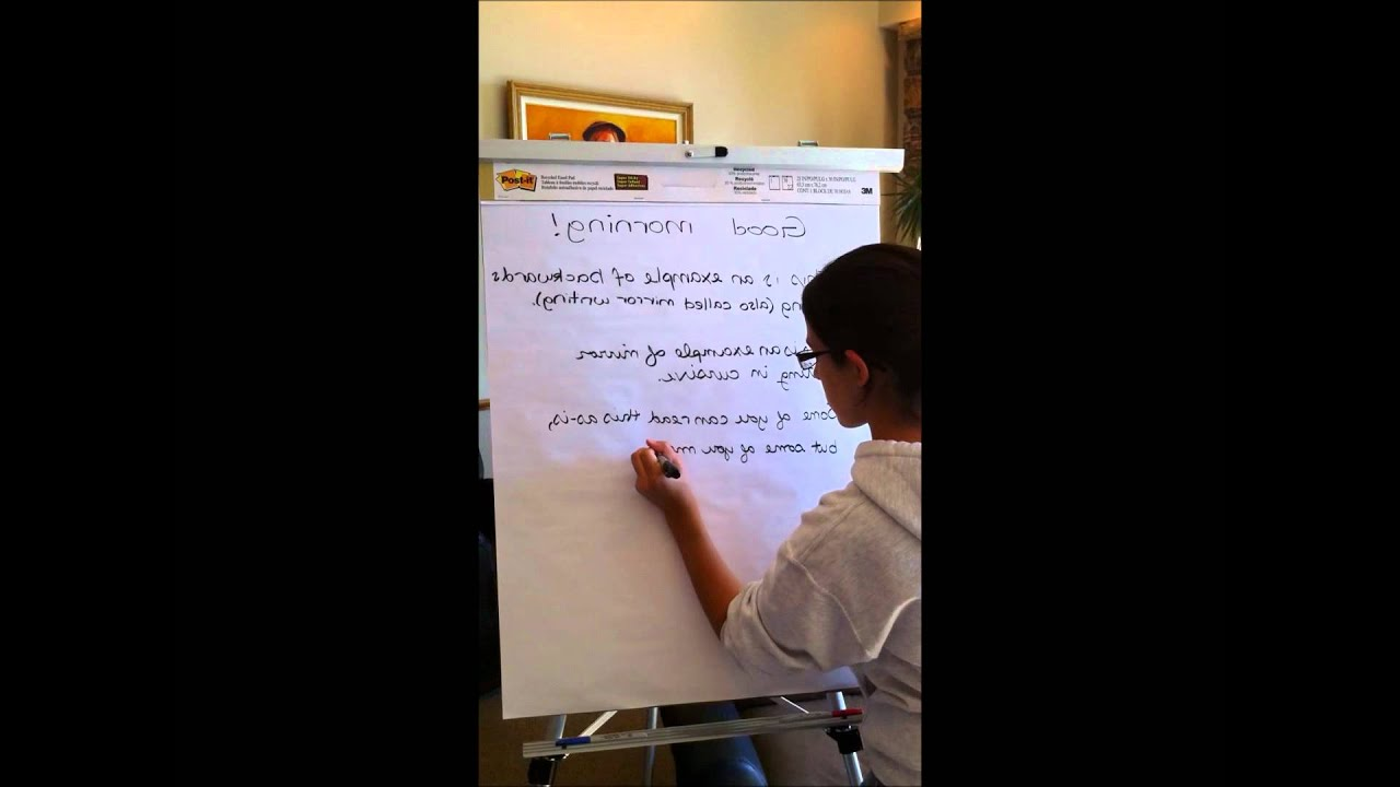 Example of Mirror Writing! - YouTube