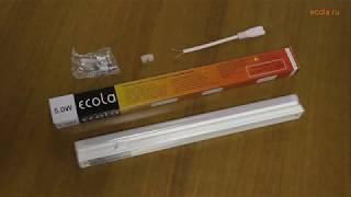 Линейные светодиодные светильники Ecola T5 Видеообзор