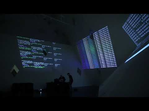"""""""Latency"""" by Gabriel Dunne and Cullen Miller, live performance at CJM YUD Gallery"""