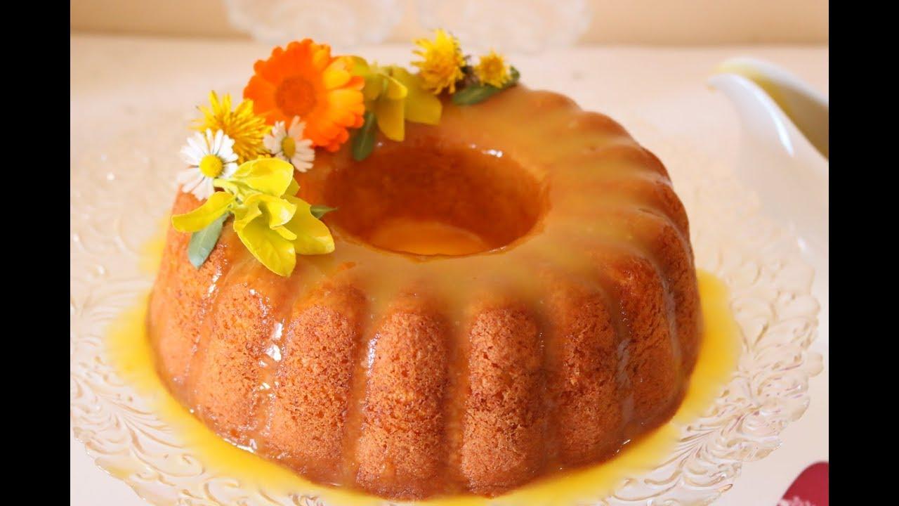 كيكة البرتقال الرائعة مع صوص البرتقال الشهي Orange Cake Youtube