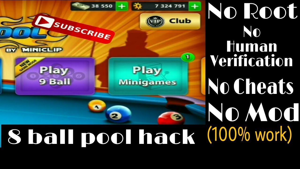 8 ball pool hack coins without human verification