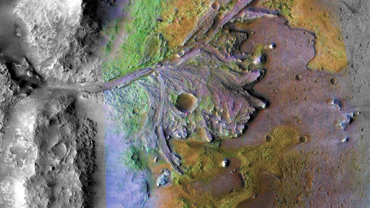 Cráter Jezero: el lugar elegido para aterrizar en Marte - YouTube