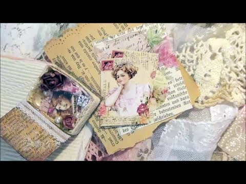 'Teacup and Roses' Sweet 'Mini Book Collage Kit'
