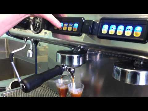 How to program the volumetric buttons on a Expobar Espresso Machine by mahalia coffee