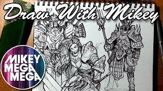 Knights & Armour - Draw With Mikey 17