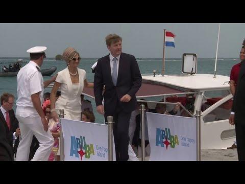 Koning en koningin bij Sail Aruba