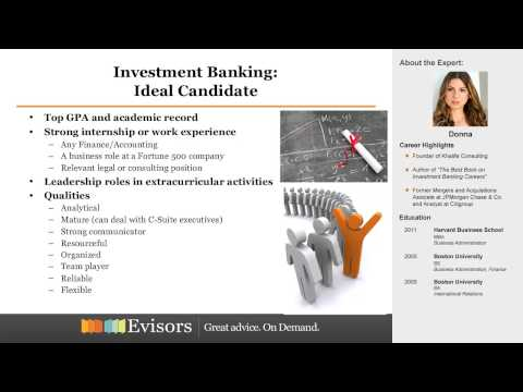 Preview: Getting a Job in Investment Banking with Donna