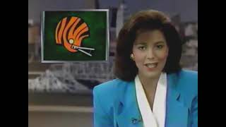 WLWT 1990 Halftime News Reports - Channel 5 Cincinnati Ohio 80s 90s