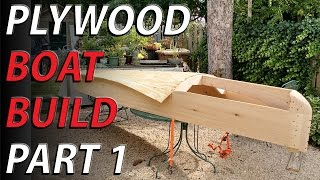 HomeMade wooden boat part 1 - lumber yard boat NO PLANS