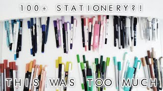 sorting ALL of my stationery [ + counting it ]
