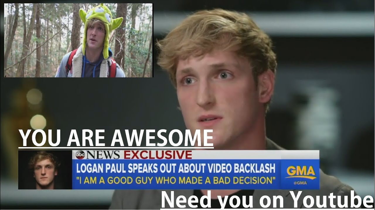 LOGAN PAUL interview after posting ! FILMS A DEAD BODY ON HIS VLOG