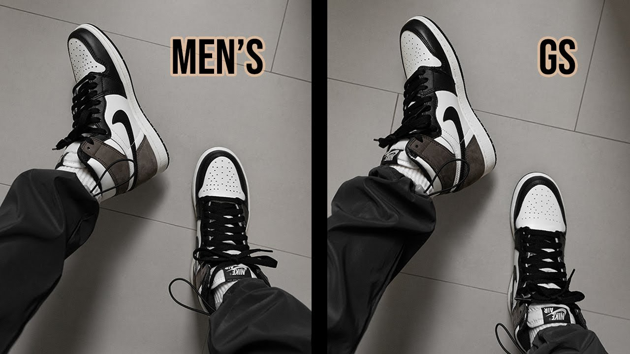 WHAT'S THE DIFFERENCE? AIR JORDAN 1 MEN'S/WOMEN'S VS GS    SHADOW ...