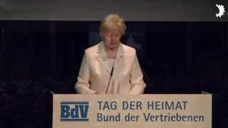 """Erika Steinbach: """"Deutschland geht nicht ohne uns"""" - Ansprache zum Tag der Heimat 2014"""