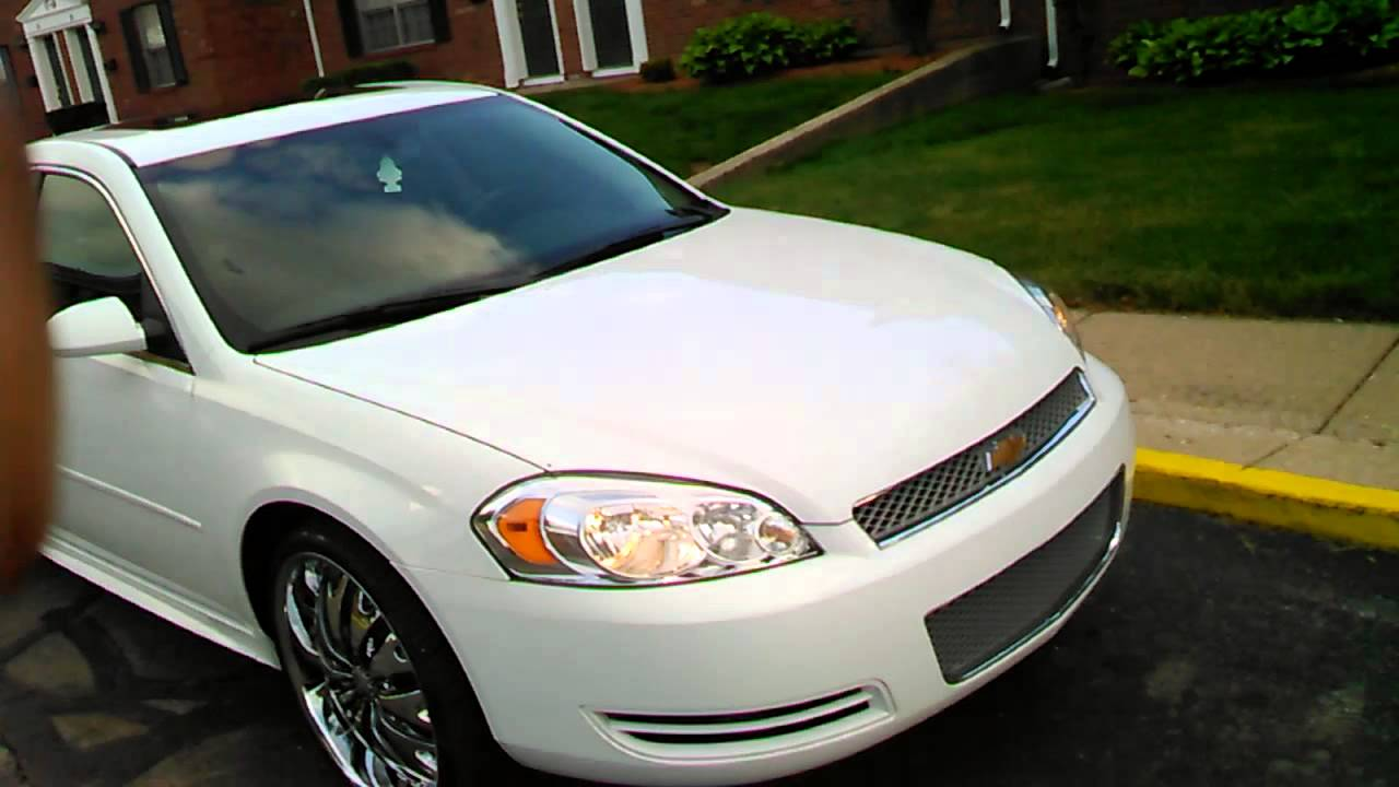 2013 white lt impala on 22 inch rims youtube. Black Bedroom Furniture Sets. Home Design Ideas