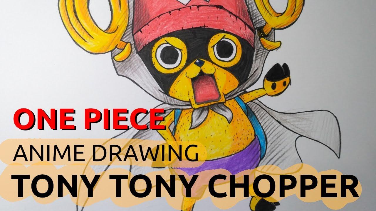 TONY TONY CHOPPER Drawing - One Piece   Anime Drawing ...