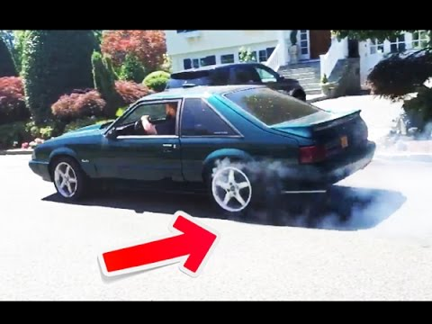 How To Do A Burnout/peel Out For Beginners (1992 Ford Mustang GT Burnout)