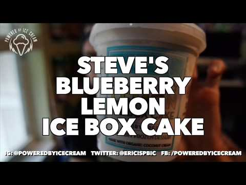 Ice Cream Review: Steve's Blueberry Lemon Ice Box Cake