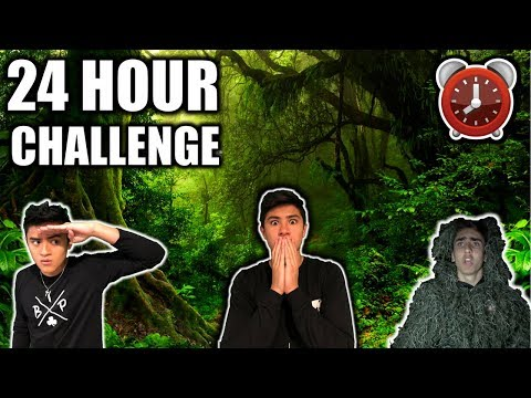 24 HOUR OVERNIGHT CHALLENGE IN THE FOREST **GHILLIE SUIT HIDE & SEEK**