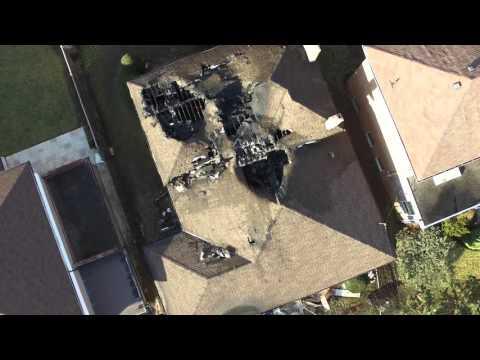 2 Alarm Fire Aftermath in North York, Toronto, Ontario, Canada