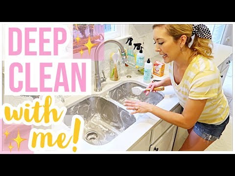 HOW TO CLEAN YOUR KITCHEN SINK | DEEP CLEAN WITH ME 2019 SERIES EPISODE 1 | Brianna K