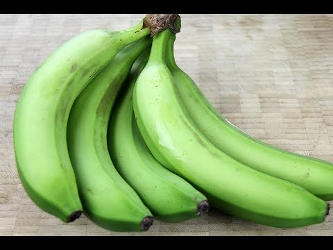 How To Shop For Cook And Peel Green Bananas Youtube