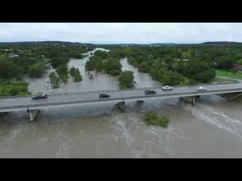 Guadalupe River Flooding at Kerrville Schreiner Park (unedited-10-16-2018)