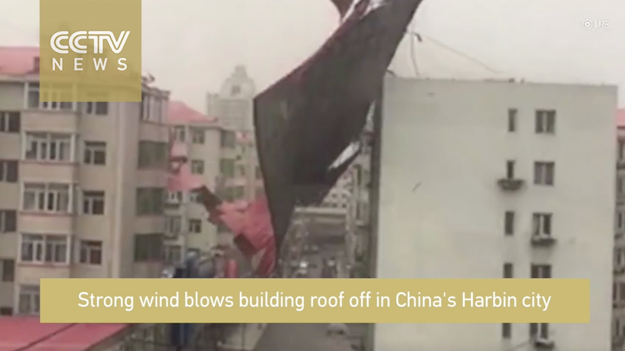 Wind Blowing On Building : Footage strong wind blows off building roof youtube