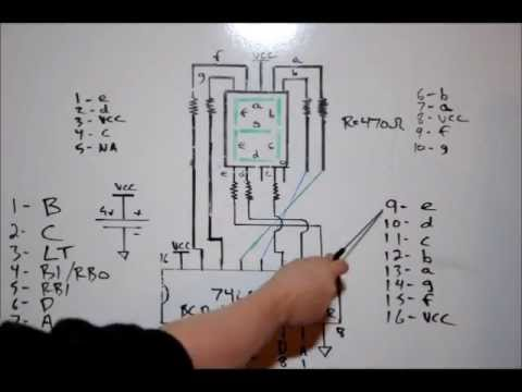 Electronic Tutorial How To Drive A 7 Segment Display With A 74LS47