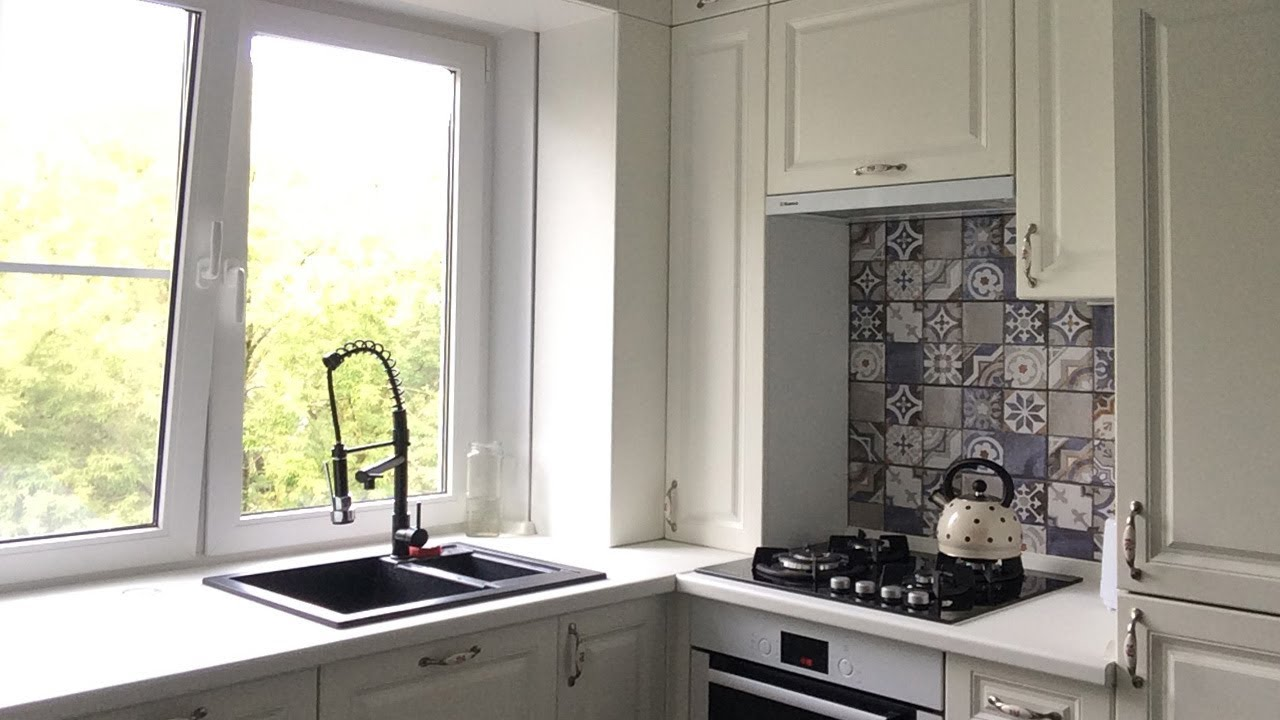 дизайн кухни 6 кв м фото хрущевка с холодильником 6