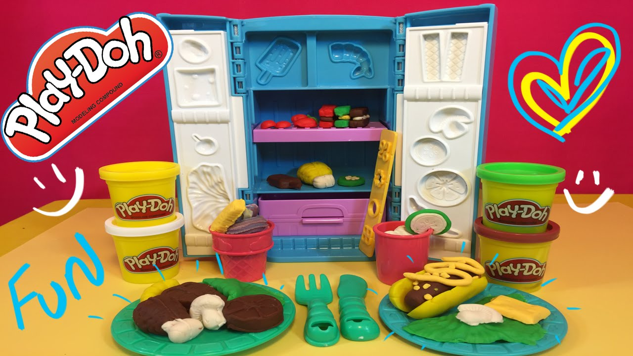 Play doh food fixin fridge make your breakfast lunch for Play doh cuisine
