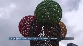Nice : Une oeuvre fruitée pour le tramway