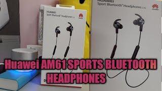 HUAWEI AM61 SPORT BLUETOOTH HEADPHONES UNBOXING